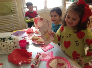 The kids enjoyed opening Valentine cards from their grandparents.