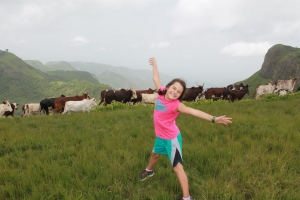 Hannah and her Fulani cattle friends.