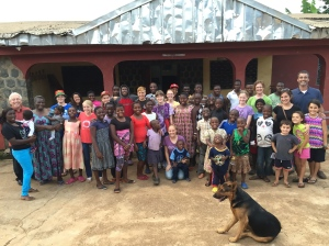 Our group and the group from the Children's Home.
