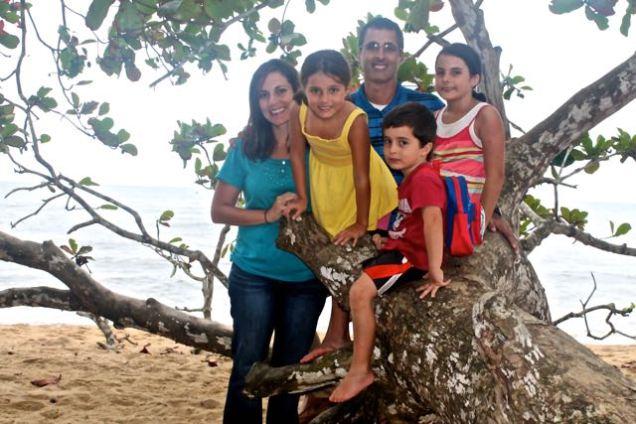 family on the tree